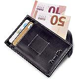 Porta Carte Di Credito - Yu and Ma | 14 Slot Wallet | Portafoglio Piccolo Sottile per Uomo e Donna | Porta Banconote in Vera Pelle | Porta Tessere | Design Italiano