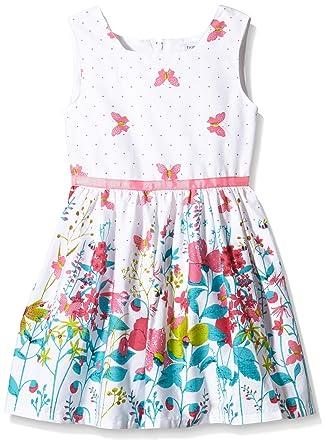 Happy Girls Mädchen Kleid Mit Blumen-schmetterling Print: Amazon.de ...