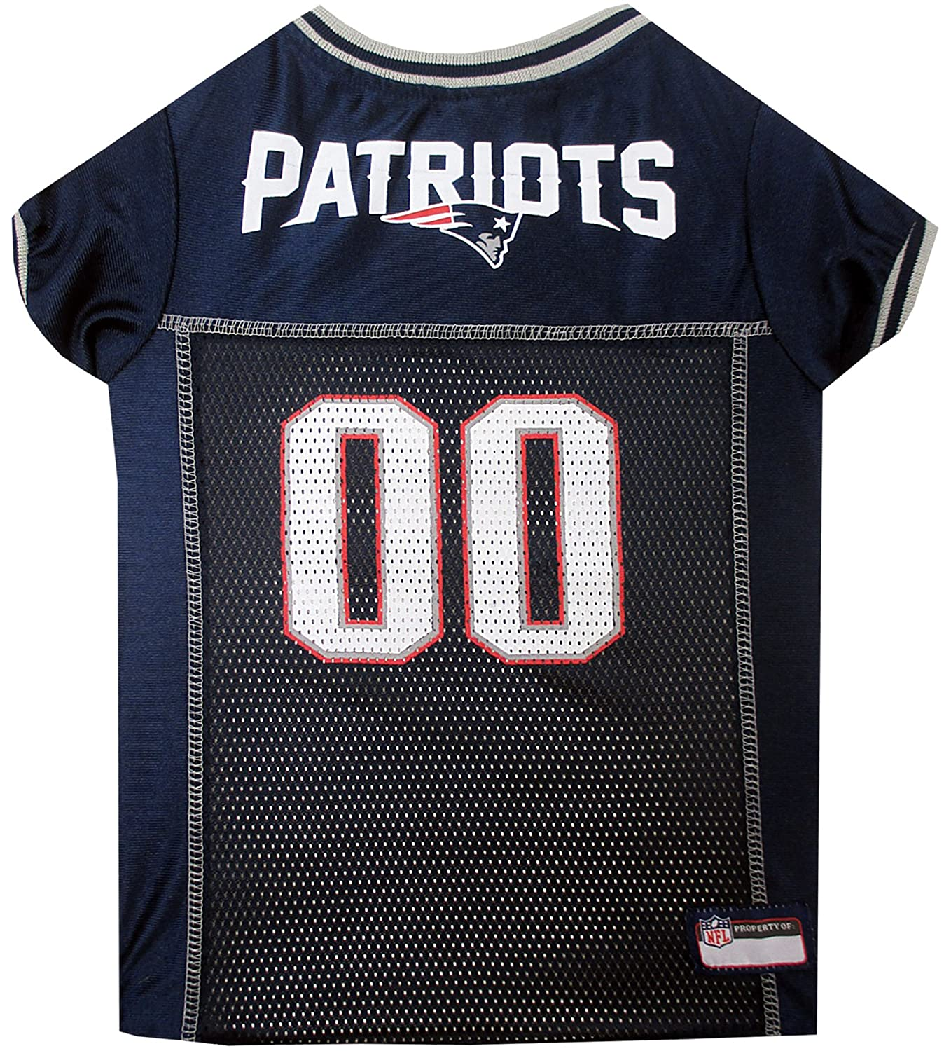 NFL New England Patriots Dog Jersey, Large