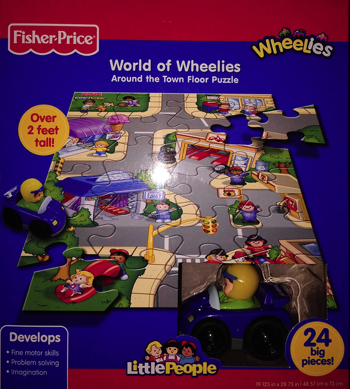 Promoción por tiempo limitado Fisher-Price World of Wheelies: Around the Town Floor Puzzle with Blue Car
