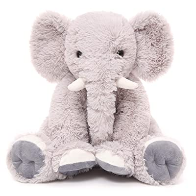 Toys Studio 19.6 Inch Stuffed Elephant Animal Soft Giant Elephant Plush Gift for Girls, Boys (Gray): Toys & Games