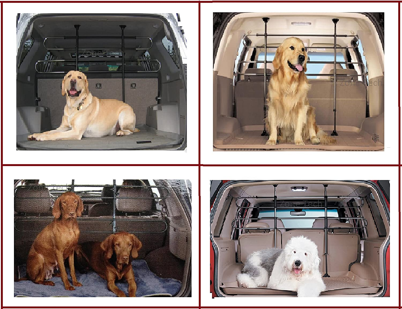 Pet Vehicle Travel Car Zone Tech PE0002-C Black Back Seat Barrier Dog Cage