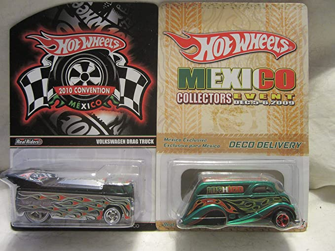 Amazon.com: Hot Wheels Volkswagen Drag Truck & Deco Delivery Mexico Convention Real Riders Rubber Wheels 1:64 Scale Collectible Die Cast Car Model Limited ...