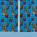 TMNT 54-inch Teenage Mutant Ninja Turtles Urban Curtains, Multi-Colour
