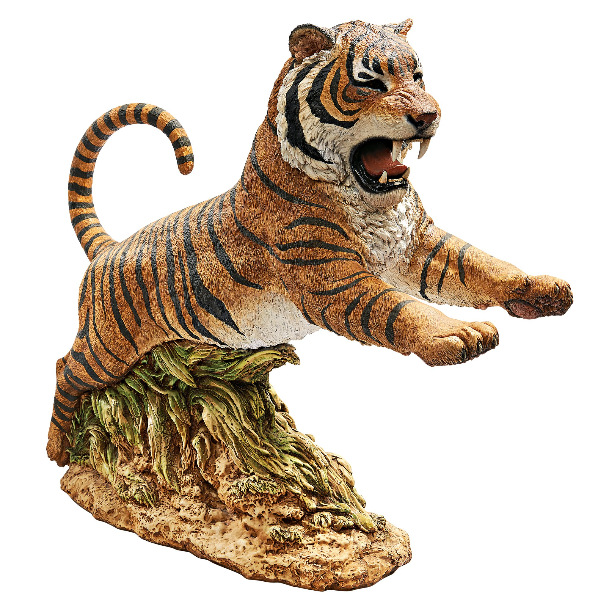 Design Toscano Jungle Cat Leaping Bengal Tiger Statue