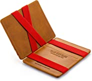 Magic Wallet Flap Boy Slim Front Pocket Jaimie Jacobs RFID Genuine Leather for Men
