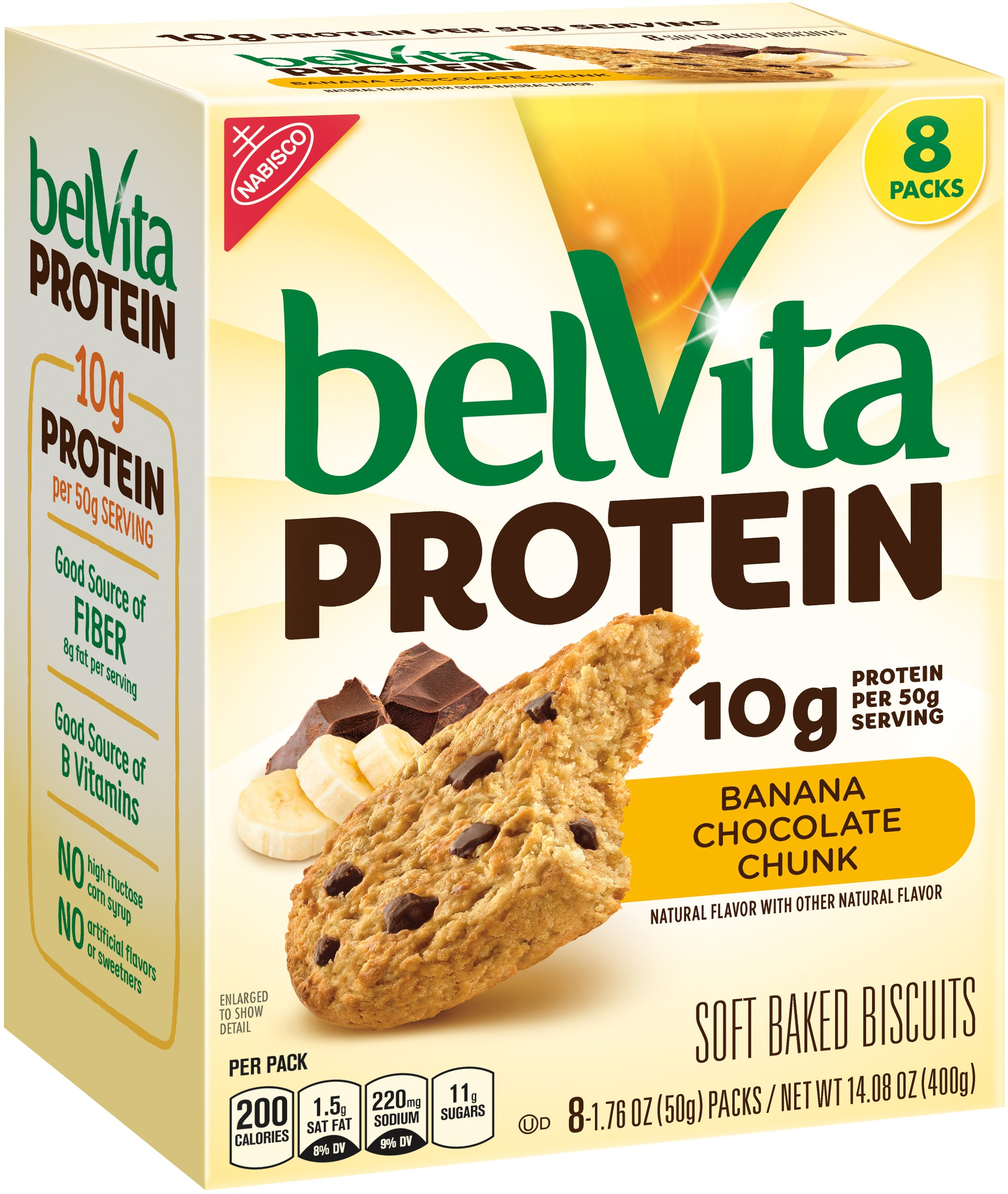 Belvita Protein Banana Chocolate Chunk Biscuits, 14.08 oz
