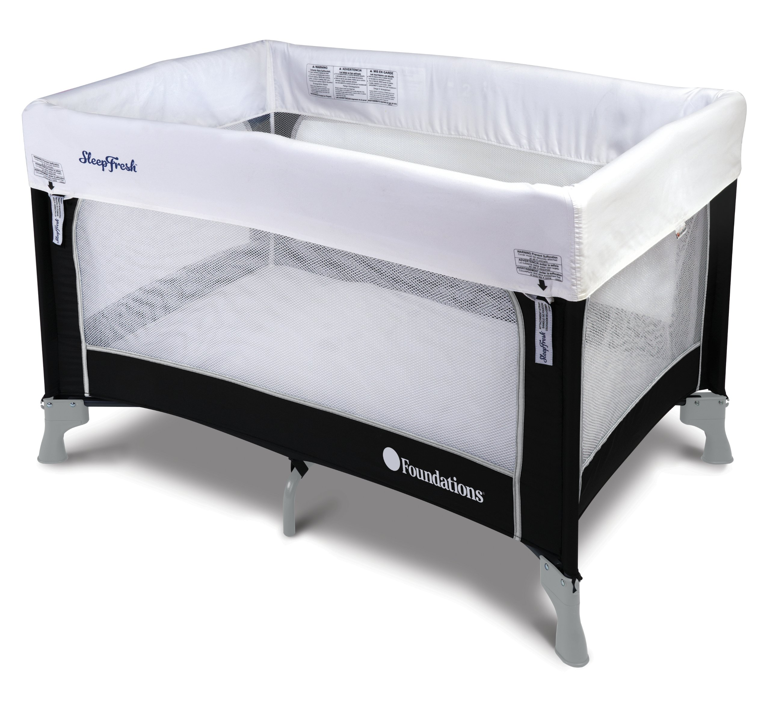 Foundations Worldwide SleepFresh Crib Cover, White, 12 Count by Foundations Worldwide (Image #2)