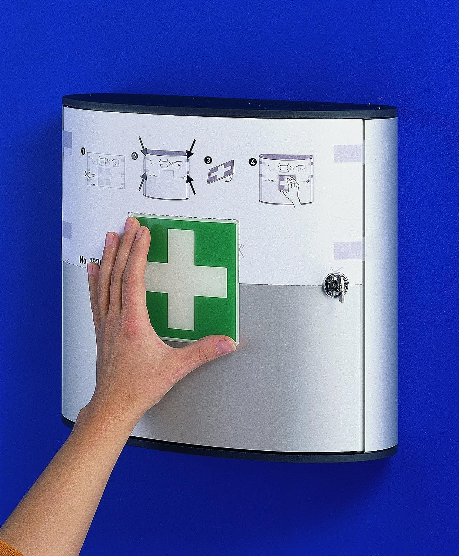 Botiqu/ín de primeros auxilios con cerradura de cilindro y 2 compartimentos abatibles Durable 197023