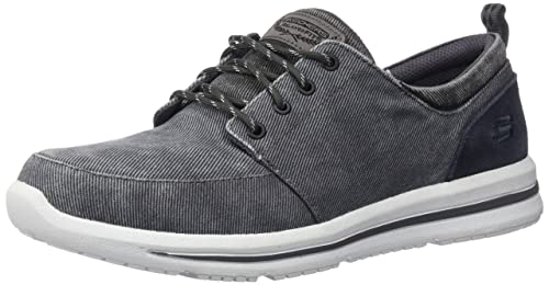 Skechers USA Mens Doren Alwen Oxford,Charcoal Black,7 ...