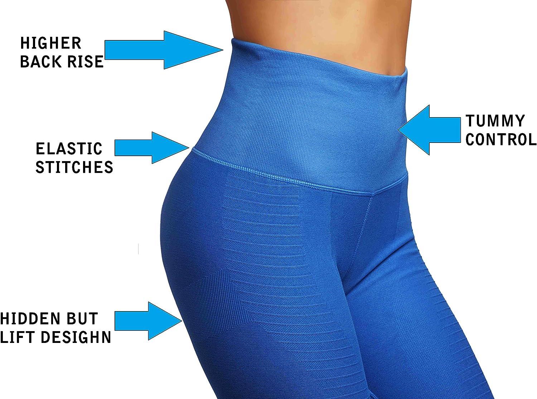 Stella Elyse Yoga Gym Dry-Fit High Compression Pants Workout Womens Leggings