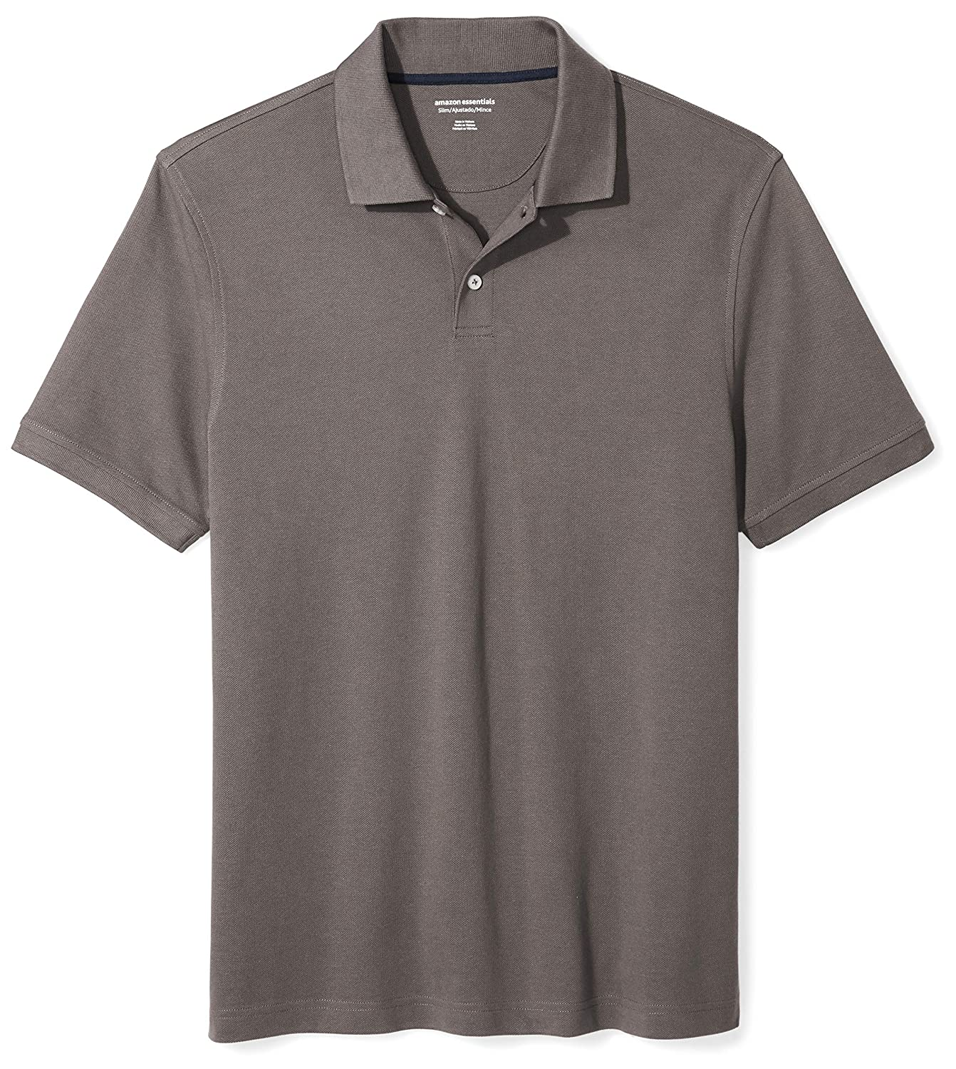Essentials Mens Slim-Fit Cotton Pique Polo Shirt