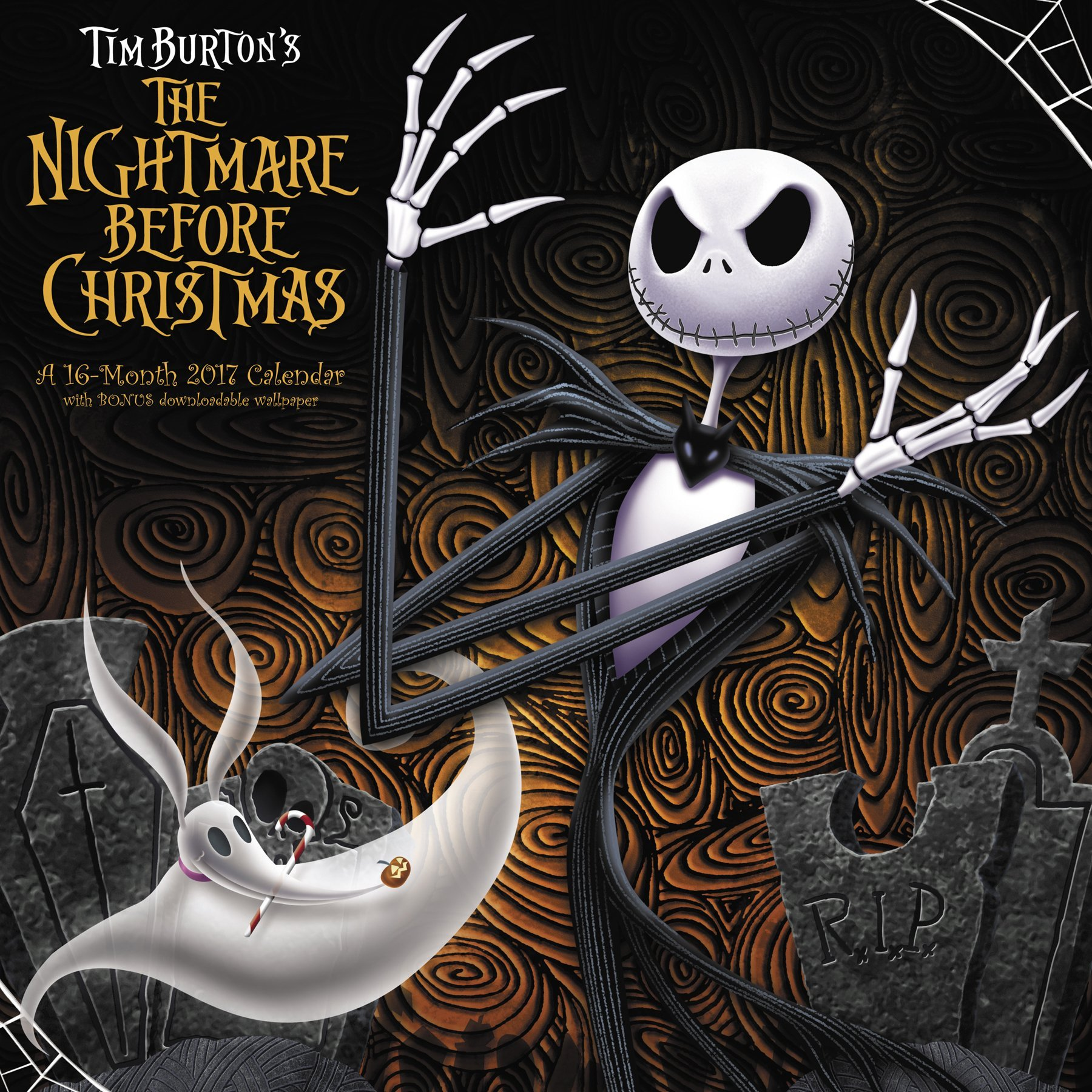 The Nightmare Before Christmas Wall Calendar (2017): Day Dream ...