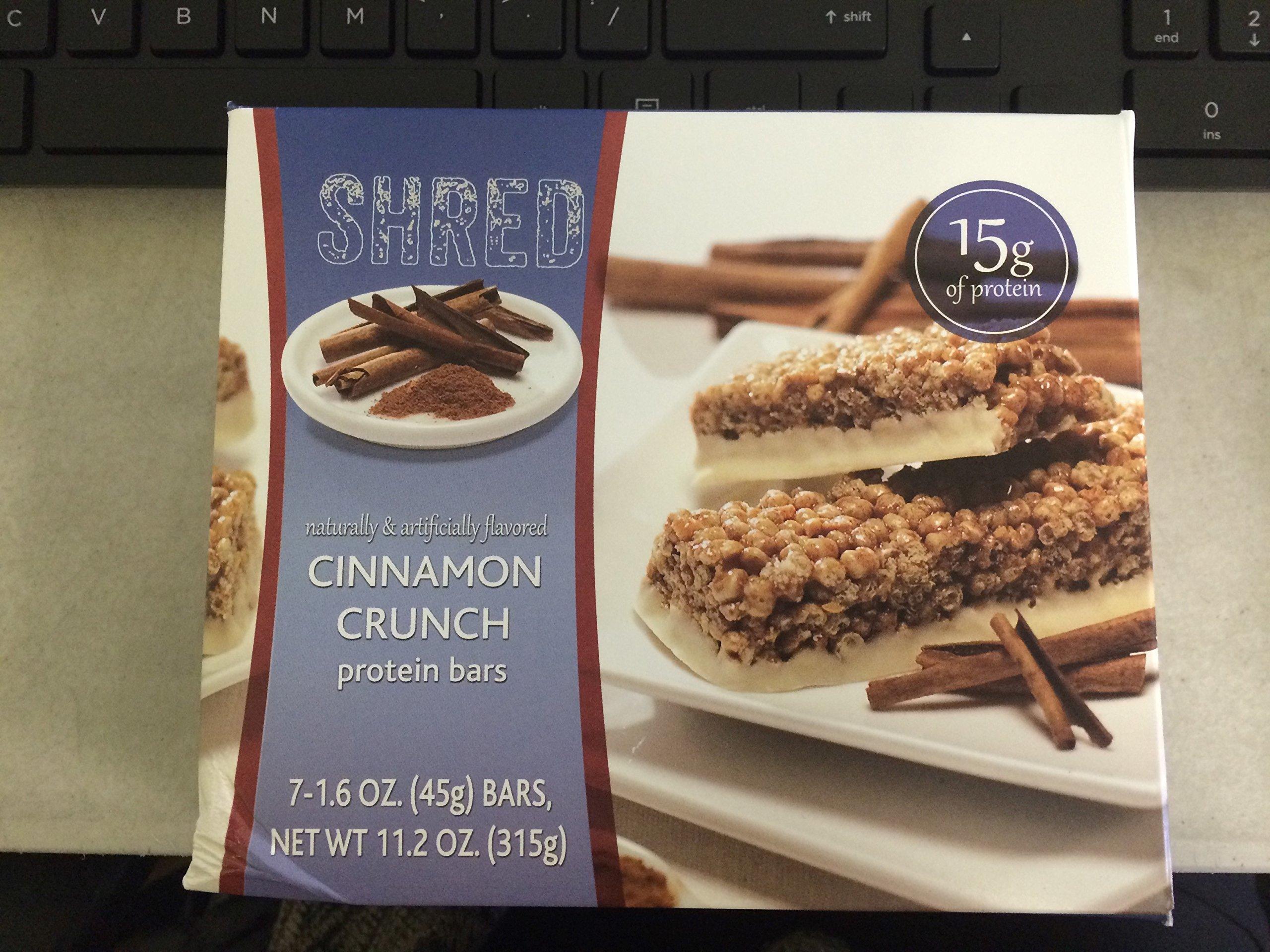 Shred Bars- Cinnamon Crunch 1.55 Oz-box of 7