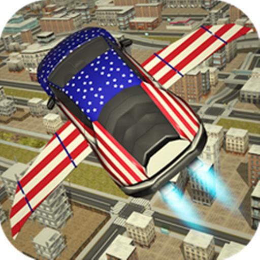 Flying Racing Car Driving
