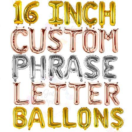 Amazon.com: Globos de letras – cualquier Phrase ...