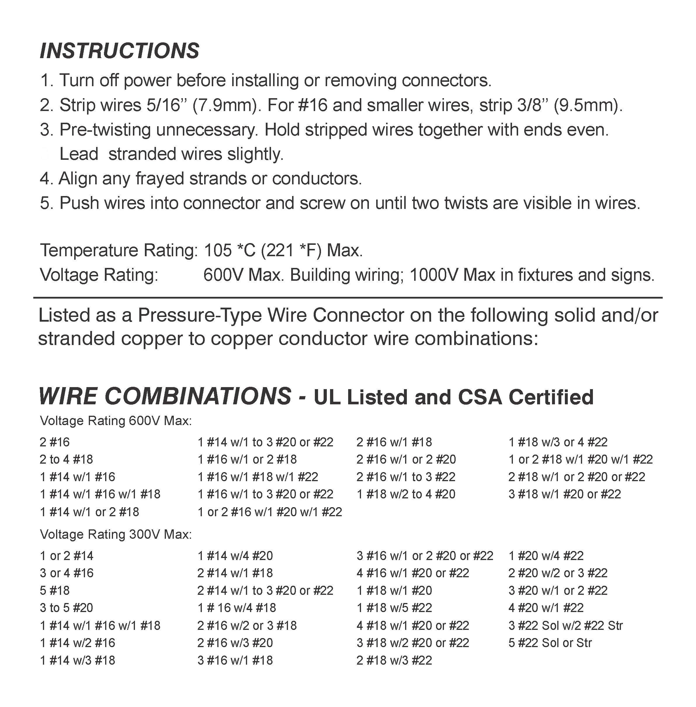 Orange Wire Connectors Bulk Bag of 500 - UL Listed Twist-On P3 Type ...