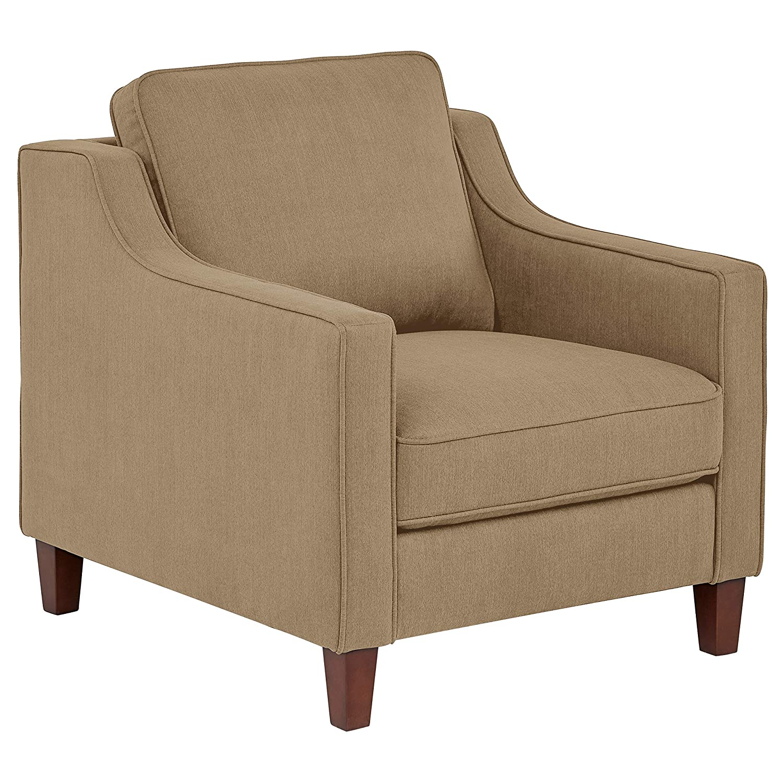 "Stone & Beam Blaine Modern Living Room Chair, Fabric, 32.3""W, Beige"