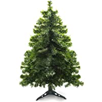 Prextex 4 Feet Premium Hinged Artificial Canadian Fir Christmas Tree Lightweight/Easy to Assemble with Christmas Tree Stand