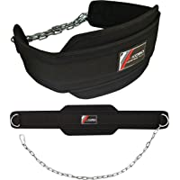 Kobo WTB-06 Neoprene Professional Dipping Belt with Heavy Duty Metal Chain (Black)
