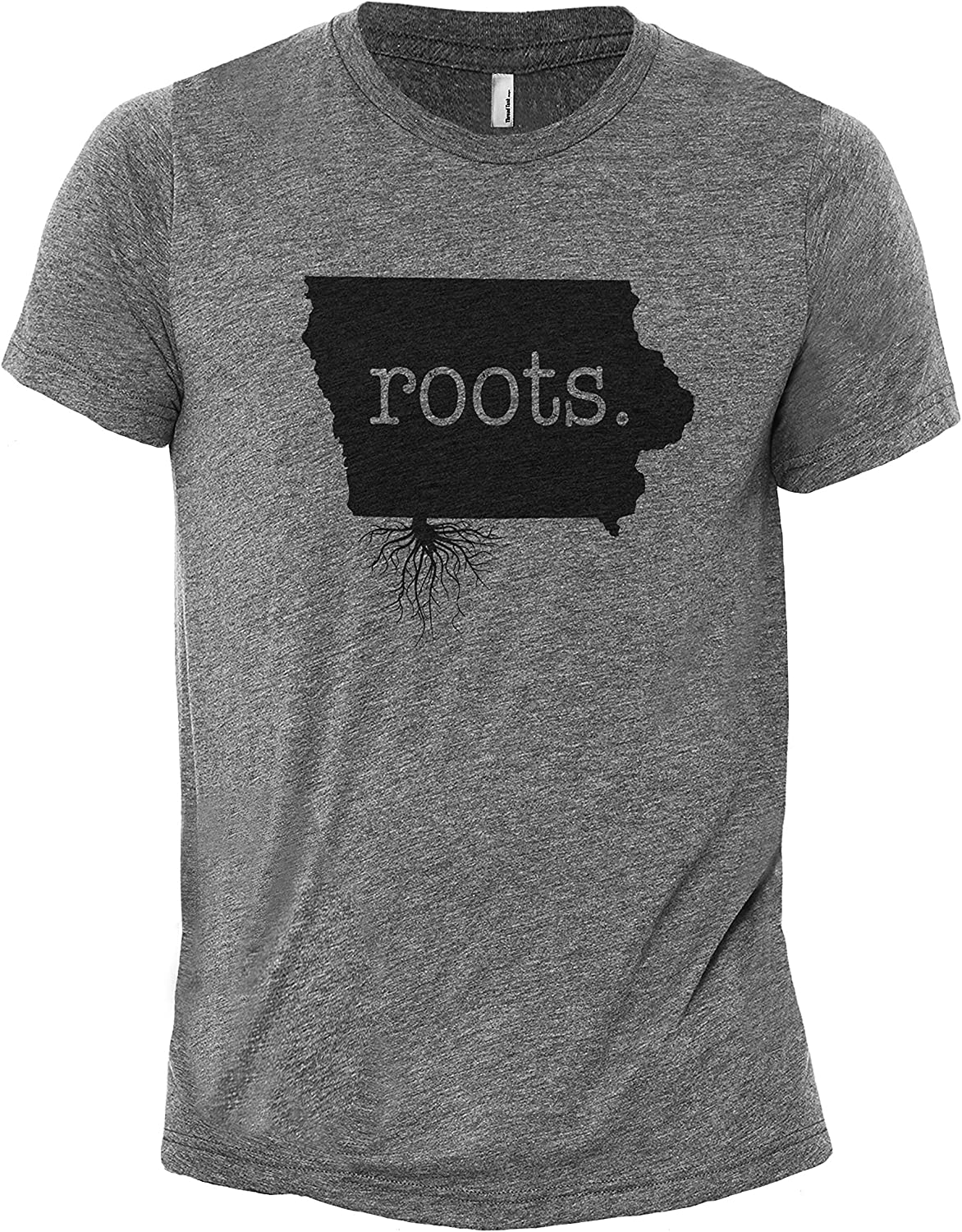 Thread Tank Home Roots State Iowa IA Men's Modern Fit T-Shirt Printed Graphic Tee
