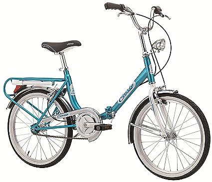 Bicicletta Pieghevole Firenze Old Style in Acciaio 20 pollici azzurro/bianco