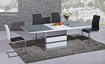 Furniture Mill Outlet Arctic Extending Dining Table In Grey From