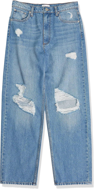 Jeans da Donna The Drop Larghi a Gamba Dritta Effetto Strappato Annalise