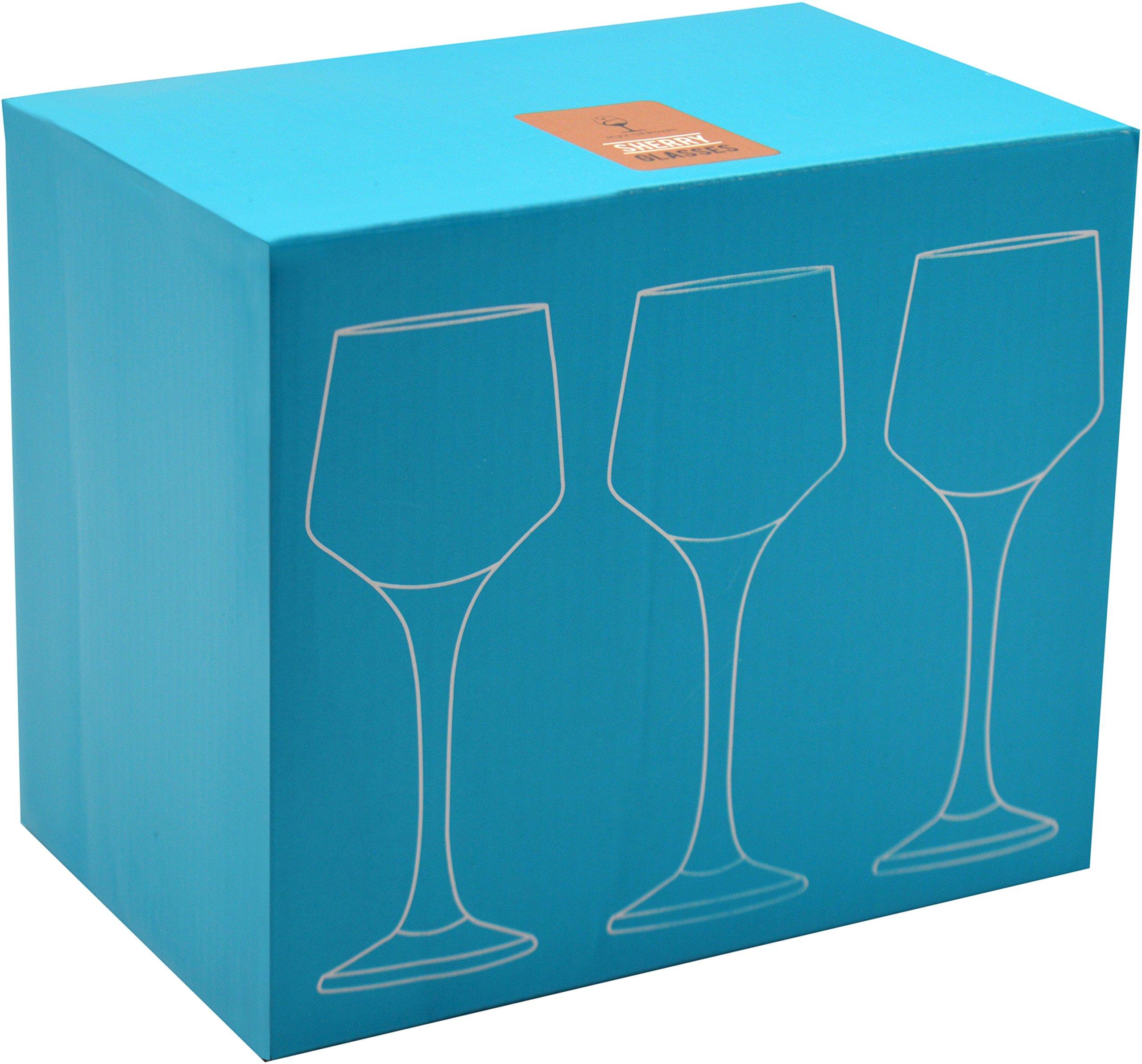 Argon Tableware Sherry/Liqueur Glasses – 80ml (2.8oz) – Gift Box Of 6