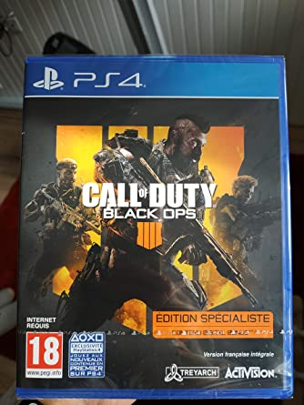 Call Of Duty Black Ops 4 Specialist Edition Ps4 Import Video Games