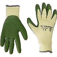 Truper GU-411, Guantes para jardinero, cubiertos de látex, puño tejido, CH