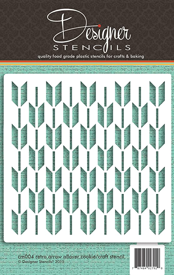 Arrow All Over Pattern Cookie and Craft Stencil CM123 by Designer Stencils