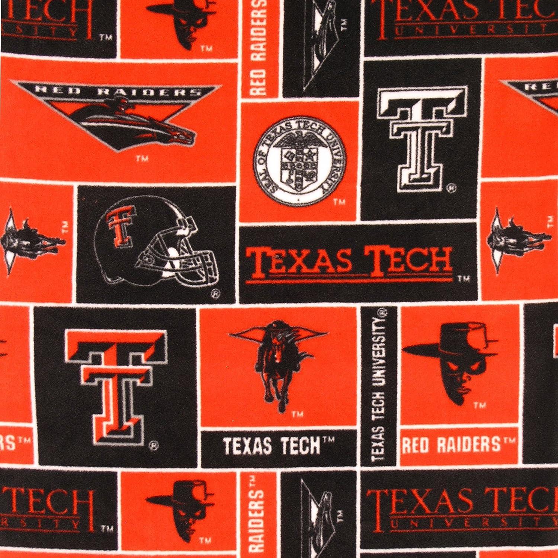 College Texas Tech University Red Raiders Print Fleece Fabric By the Yard by Sykel   B004KS6RXC