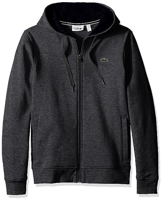 5fa316df59c8 Lacoste Men s Tennis Sport Full Zip Hoodie Fleece Sweatshirt  Amazon.in   Clothing   Accessories