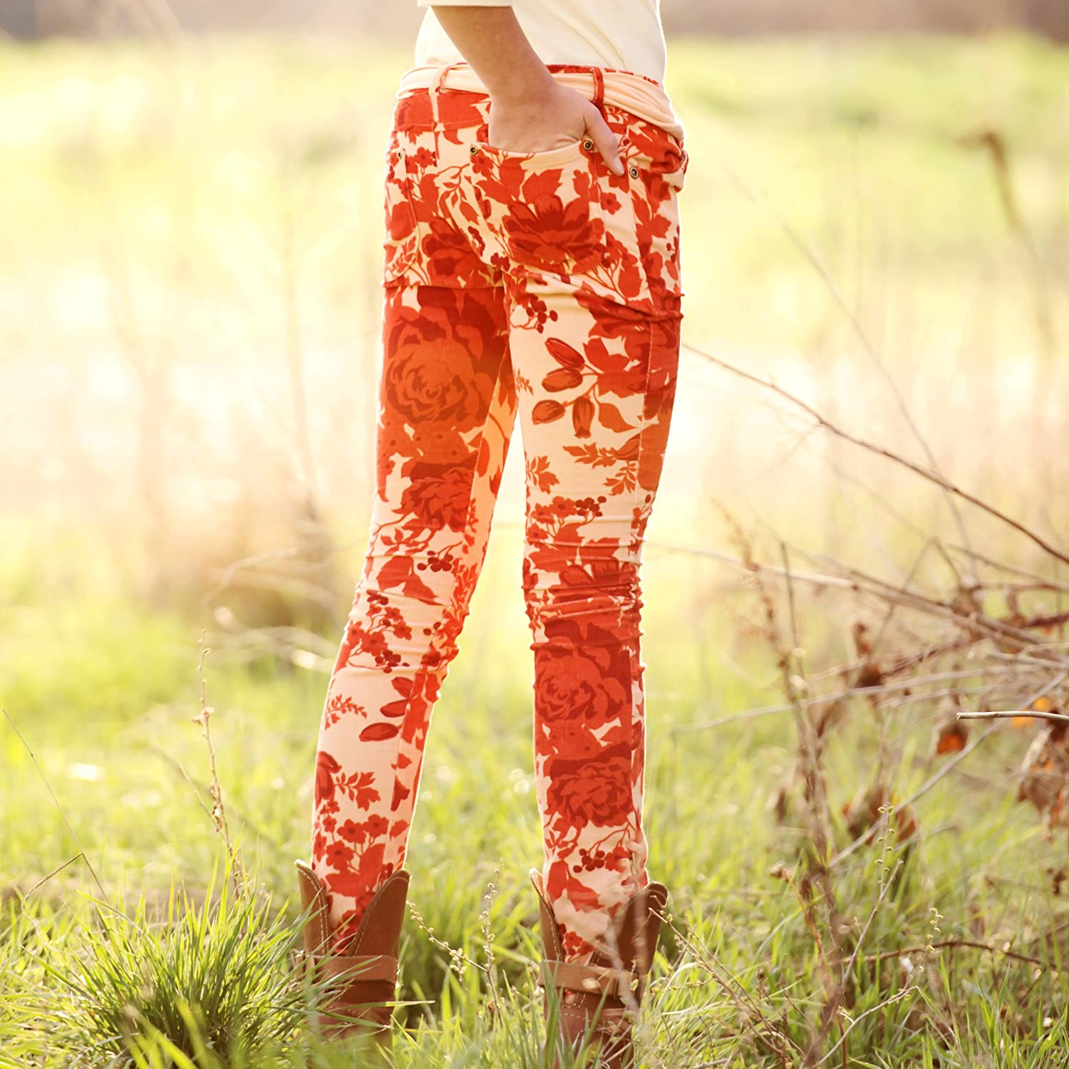 Persnickety Floral Skinnies