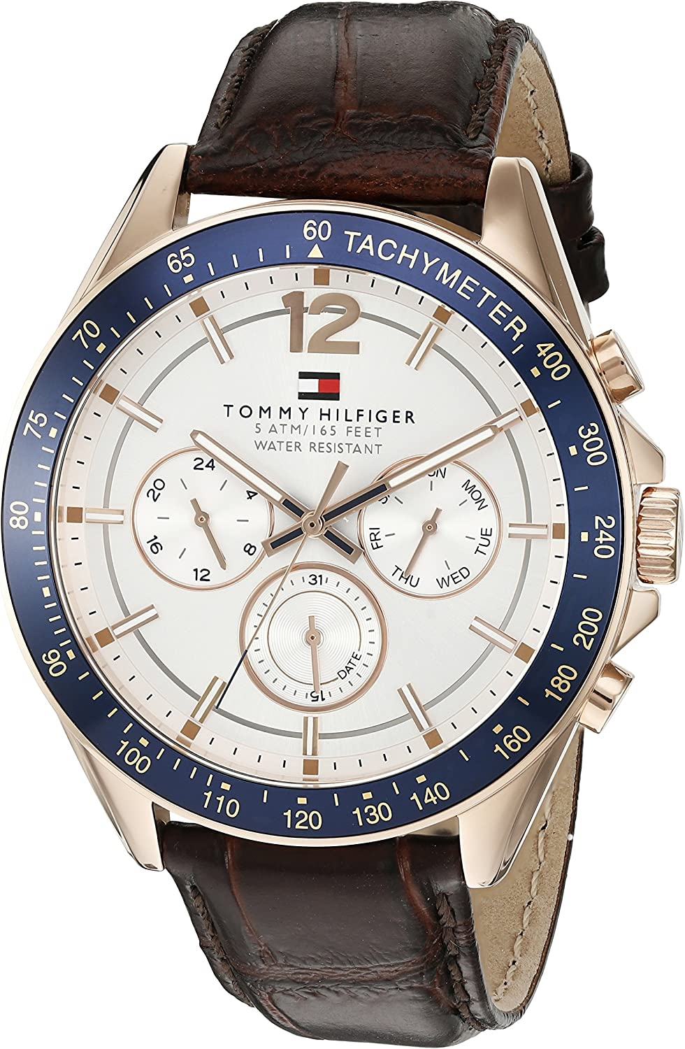 Tommy Hilfiger Men s 1791118 Sophisticated Sport Watch with Brown Leather Band