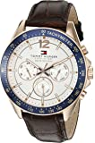Tommy Hilfiger Men's Sophisticated Sport Analogue With Brown Leather Watch_1791118