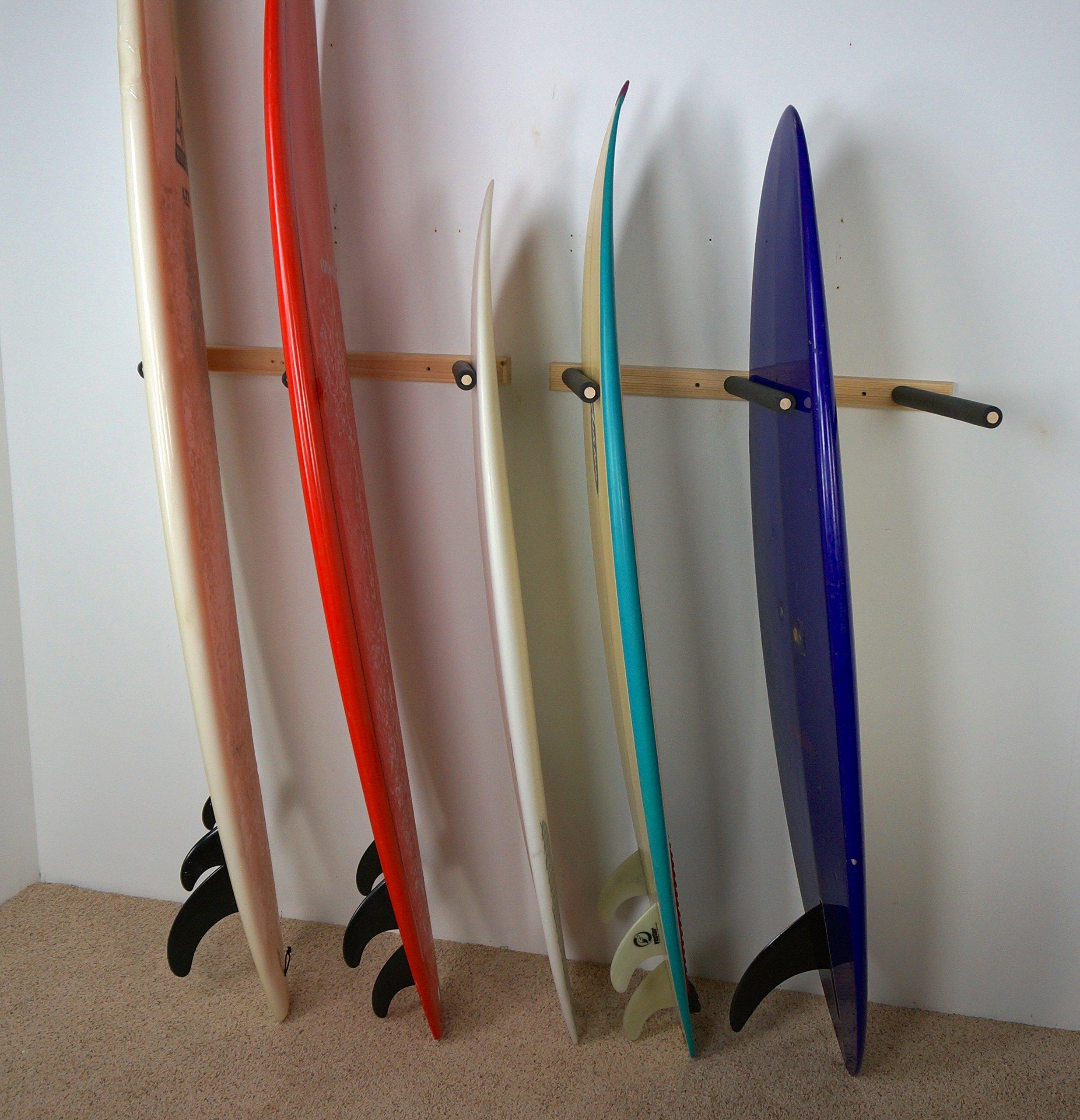 pin vertical clear display acrylic mount rack wall surfboard