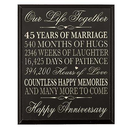 Amazon Lifesong Milestones 45th Wedding Anniversary Wall Plaque