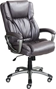 Serta Works Executive Office Chair, Harvard Gray Bonded Leather