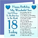 Son 18th Happy Birthday Card