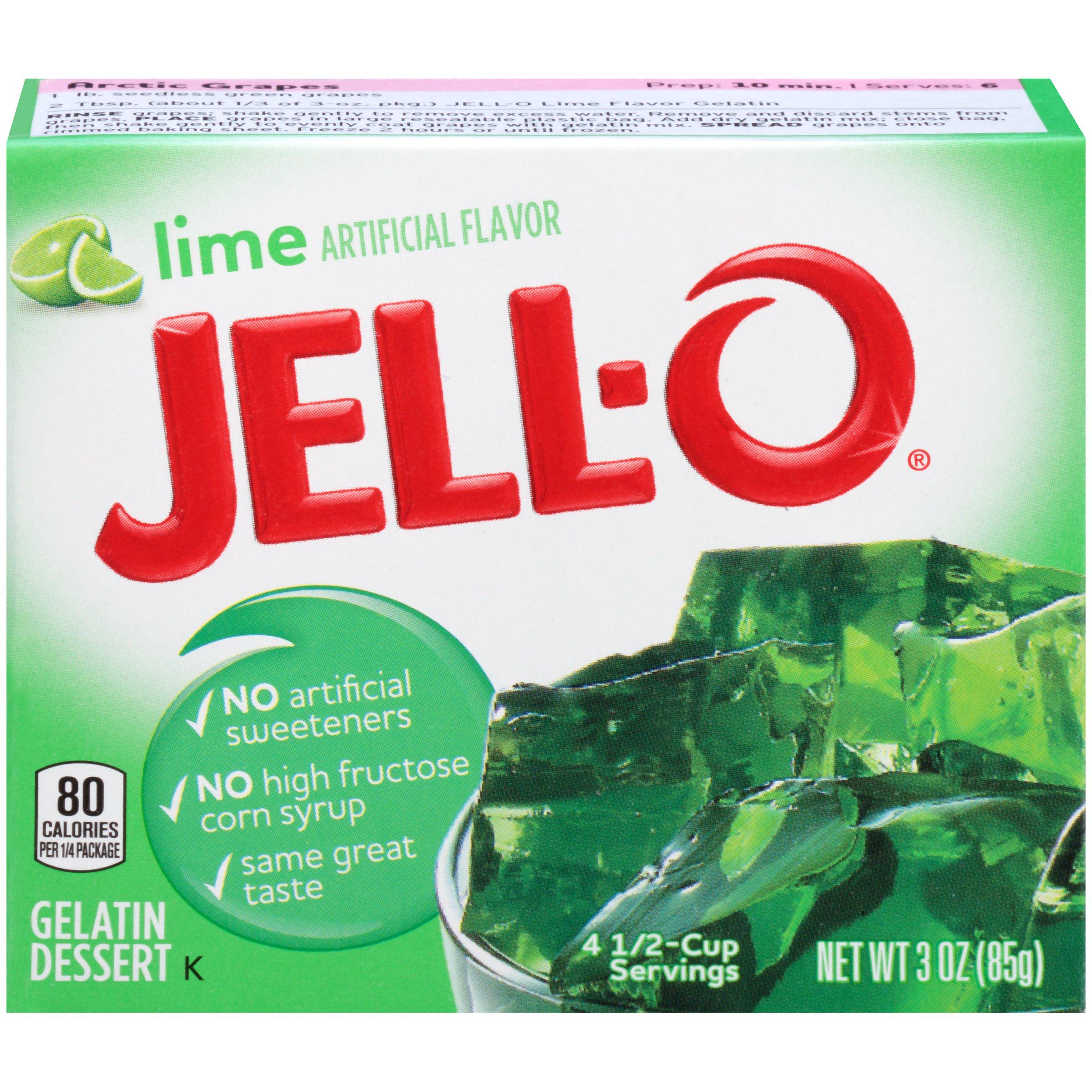 Jell-O Lime Gelatin Dessert Mix, 3 oz Box