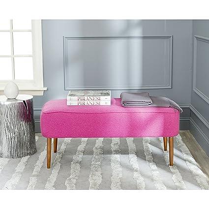 bench pink tufted mf velvet gold legs rose steel stainless metal