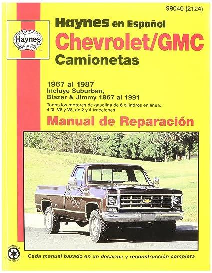 amazon com haynes chevrolet gmc camionetas 67 91 spanish repair rh amazon com 1995 GMC Jimmy 2016 GMC Jimmy