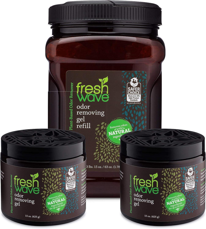Fresh Wave Odor Removing Gel Bundle: (2) 15 oz. Gels + (1) 63 oz. Gel Refill