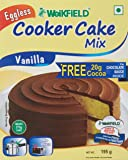 Weikfield Cooker Cake Mix, Vanilla, 195g with Free Cocoa, 20g
