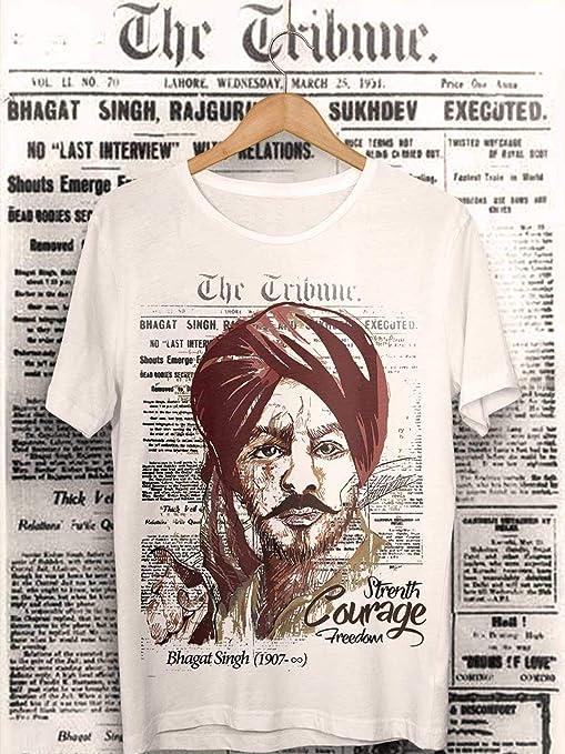 Shaheed Bhagat Singh (1907 to Infinity)-White T-Shirt T