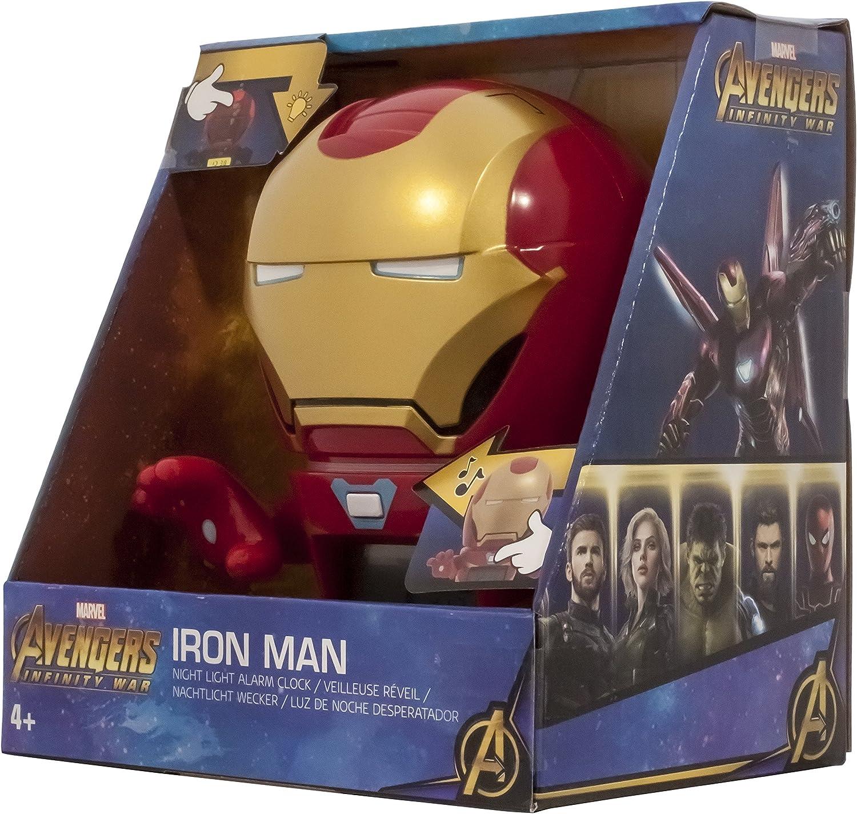 Réveil veilleuse avec sons du personnage pour enfant Marvel 2021685 Avengers: Infinity War Iron Man