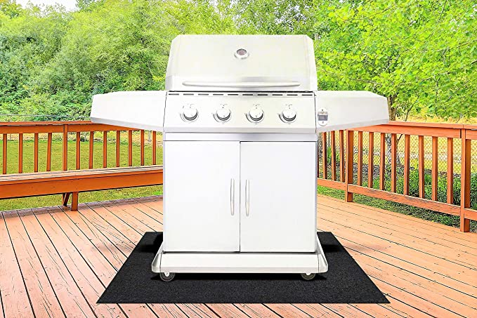 Amazon.com: BBQ Grill Splatter Mat for Gas Electric Oven & Smokers - Absorbent Grill Pad Washable Floor Mat Protects Deck and Patio from Grease Splatter ...