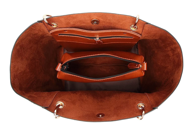 Molodo dam Satchel Hobo Top handtag tote läder-handväska kasse-axel-plånbok-Bucket Bag axelväska Svart